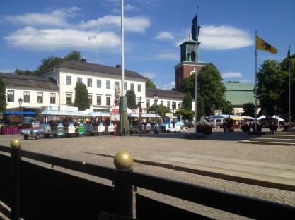 Residenset/Länsstyrelsen samt Sankt Nicolai kyrka i bakgrunden